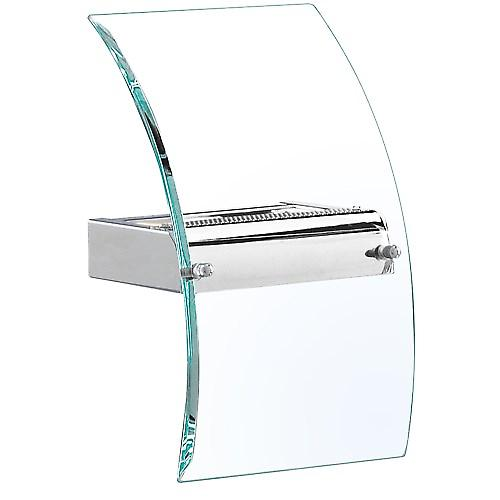 Searchlight 4115 Modern Wall Washer Light Chrome Plate With Curved Glass