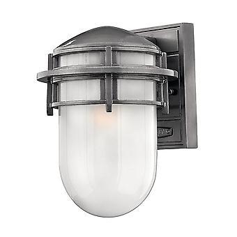 Elstead-1 luce piccola parete esterna Lanterna ematite IP44-HK/REEF/SM HE