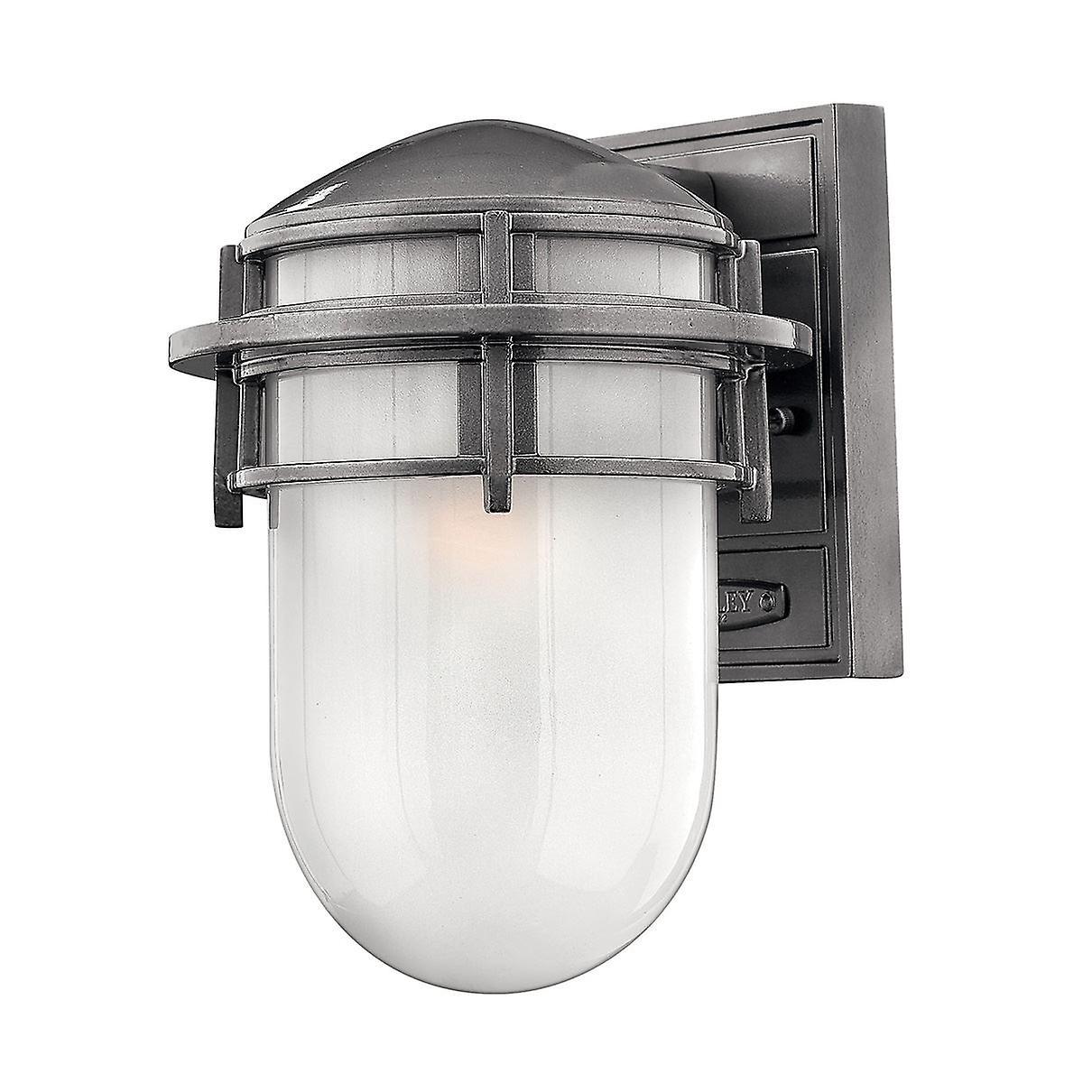 Elstead - 1 Light Small Outdoor Wall Lantern Hematite IP44 - HK REEF SM HE