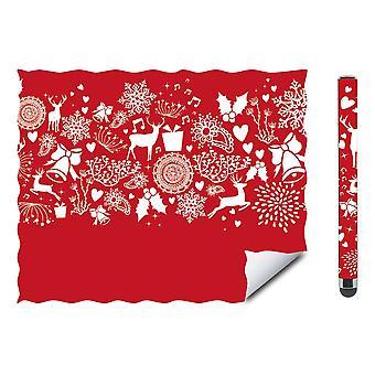 Speedlink Cerimo Stylus und Reinigungstuch Weihnachtsset-Rot/Weiß