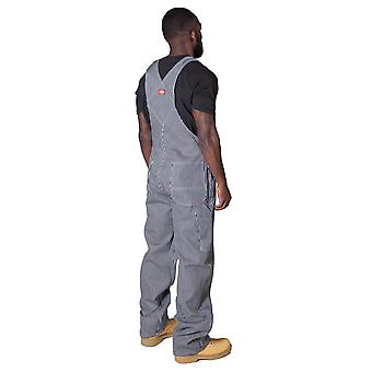 Hickory stripe denim dungarees