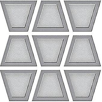 Spellbinders Trapezoid Dance Quilt Etched Die D-Lites (S2-275)