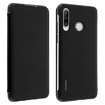 Huawei P30 Pro Case Cover Storage Cards Integral Protection - Black