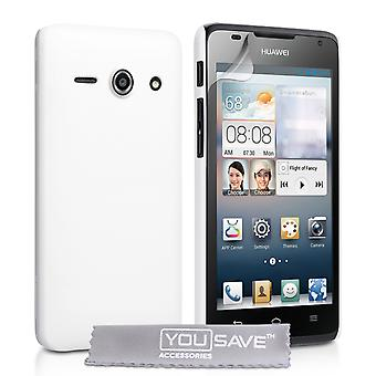 YouSave Accessories Huawei Ascend Y530 Hard Hybrid Case - White