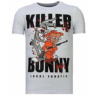 Killer Bunny-Rhinestone T-shirt-White