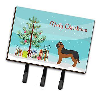 Black German Shepherd Mastiff Mix Christmas Tree Leash or Key Holder