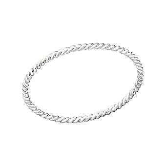 Twisted - 925 Sterling Silver Plain Rings - W29454X