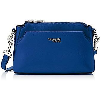 Trussardi Jeans Berry Huntsman Blue Women's Shoulder Bag (Bluette) 31x22x14 cm (W x H x L)