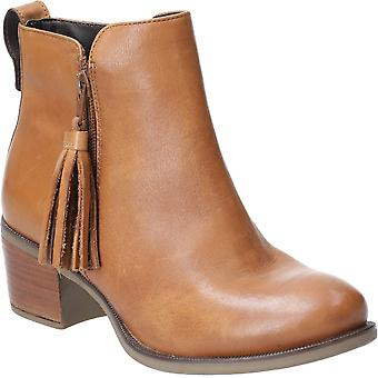 Hush Puppies Womens Georgie Zip Tassle Leather Ankle Boots