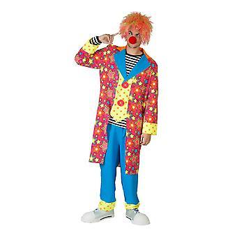 Costume da uomo Circus Clown Celestial Funmaker Stars Stars Costume di HarlequinMen
