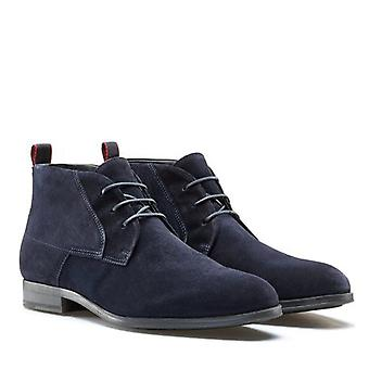 Hugo Boss Footwear Hugo Boss Men's Dark Blue Desert Suede Boots