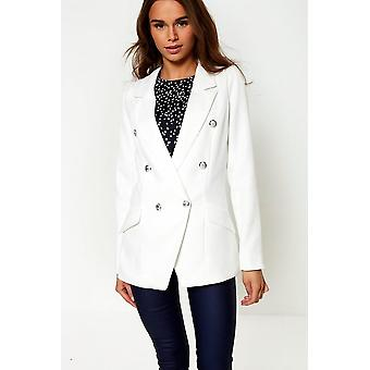 iClothing Tess Military Blazer In Off White-14