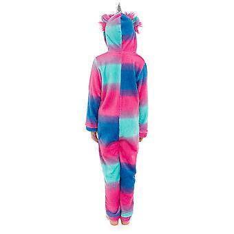 Jenter hette Unicorn design myk fleece onesie Pyjama