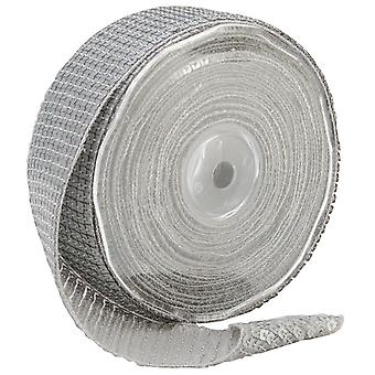 Square Sequin Trim 40Mm X 15.95 Yards Matte Silver 9801 40 102
