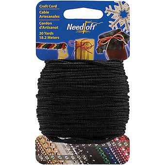 Needloft Novelty Craft Cord 20 Yards Solid Black 550 55042