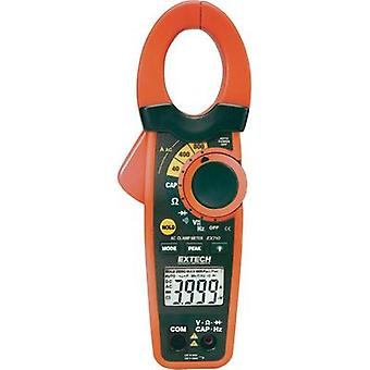 Current clamp, Handheld multimeter digital Extech EX710 Calibrated to: Manufacturer standards CAT III 600 V Display (co