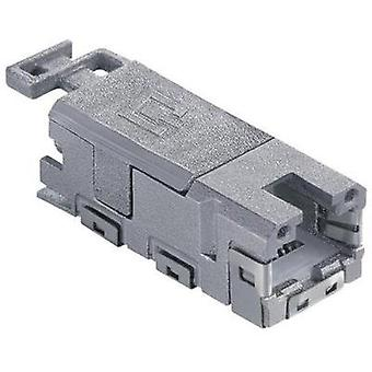 Metz Connect 1401100810MI RJ45 Connector, straight Grey