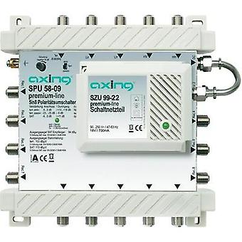 SAT multiswitch Axing SPU 58-09 Inputs (multiswitches): 5 (4 SAT/1 terrestrial