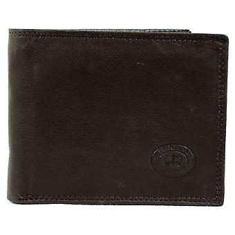 Men's Matt Finish Nappa Leather Bi-Fold Wallet with 9 Credit Card Slots and Multiple Pockets  - Black
