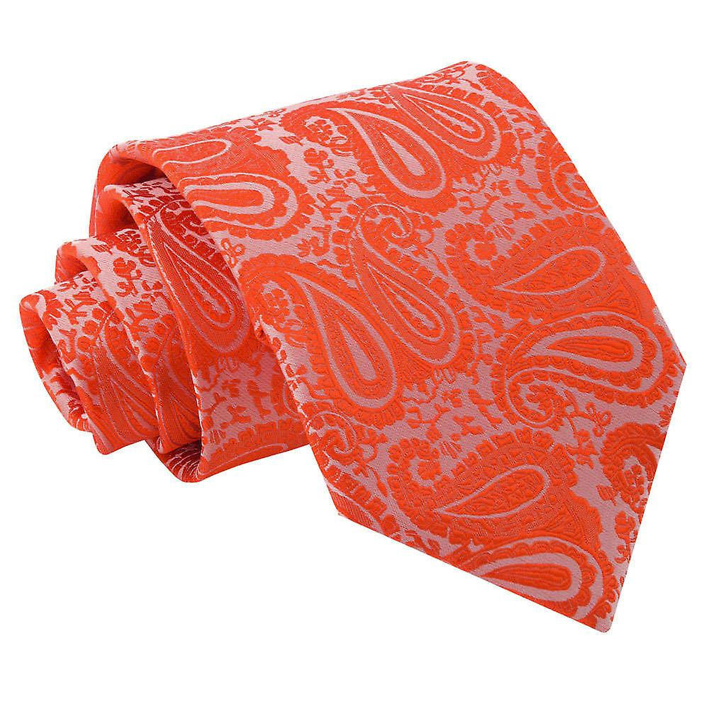 Paisley Burnt Orange Tie