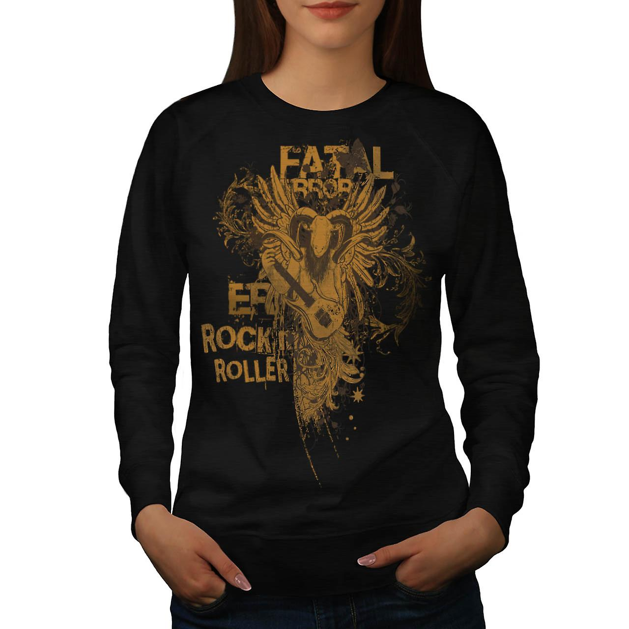 Goat Fatal Error Beat Music Ram Women Black Sweatshirt | Wellcoda
