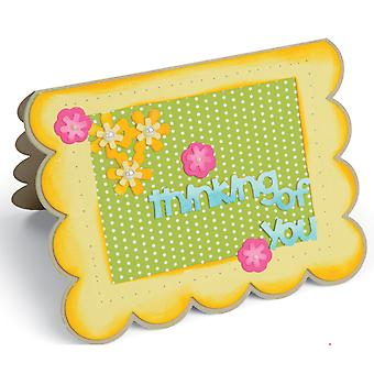 Sizzix Framelits Dies By Stephanie Barnard 22/Pkg-Scallop Flowers/Sentiments Drop-Ins Card 660148