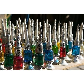 Perfume Bottles The Souqs of Marrakech Marrakech Morocco Poster Print by Walter Bibikow