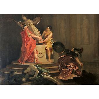 Ulises y Diomedes robar la estatua de Palas Atenea Poster Print