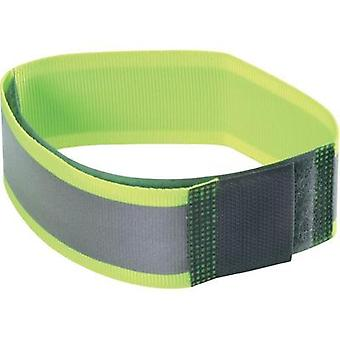 Hook-and-loop tape with reflector, sew-on Hook and loop pad (L x W) 430 mm x 38 mm Neon yellow Fastech NEONGELB 430MM LA