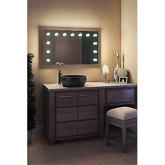 Diamond X Bodenmontage Hollywood Make-up-Spiegel mit dimmbaren LED-k91LEDbath