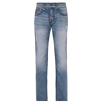 True Religion Rocco Super T Vintage Blue Relaxed Skinny Denim Jeans