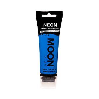Moon Glow - 75ml Neon UV Face & Body Paint - Intense Blue