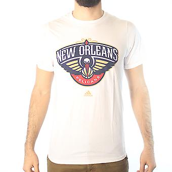 Adidas NBA New Orleans Pelicans Men's White T-shirt