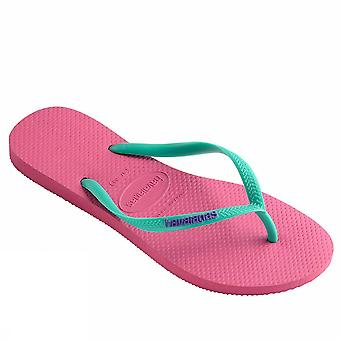 Havaianas Slim Logo 4119787 0703Shockingp Damen Meer Schuhe