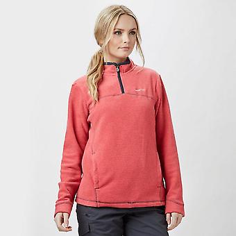 New Weird Fish Women's Chrystal Quarter Zip Fleece Pink