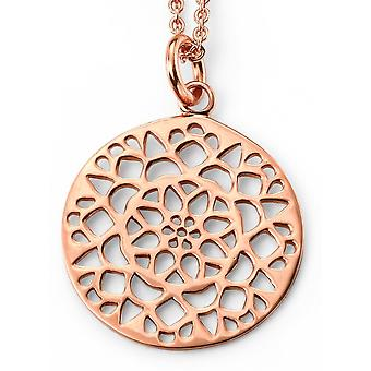 925 Silver Gold Plate Necklace Trend Rose