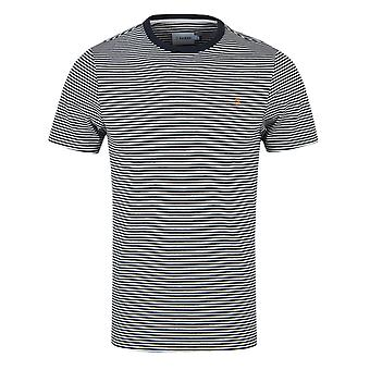 Farah Vyner YD True Navy Marl Stripe T-Shirt