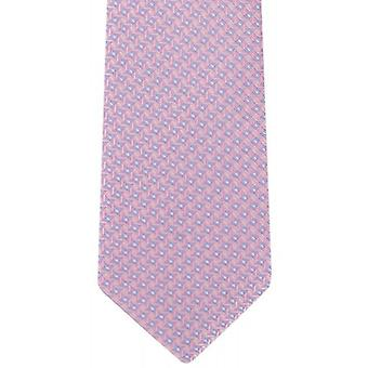 Michelsons of London Mini Grid Silk Tie - Pink