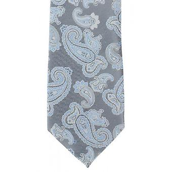 Michelsons of London Outline Paisley Polyester Tie - Grey