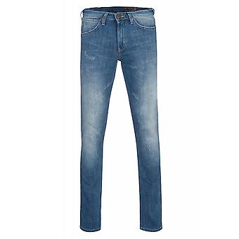 Wrangler pants mens stretch jeans Bostin blue
