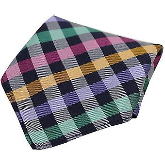 David Van Hagen Checked Silk Pocket Square - Multi-colour