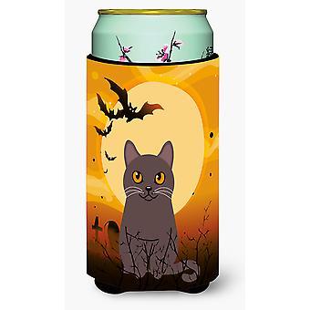 Halloween Chartreux Cat Tall Boy Beverage Insulator Hugger