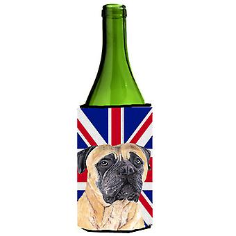 Mastiff with English Union Jack British Flag Wine Bottle Beverage Insulator Hugg