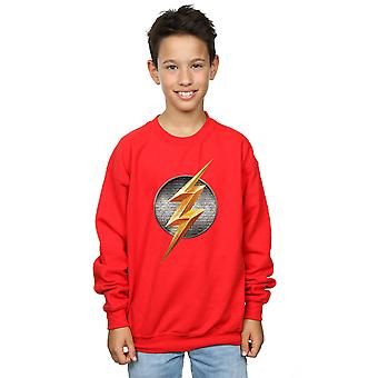 DC Comics Jungen Justice League-Film Flash-Emblem Sweatshirt