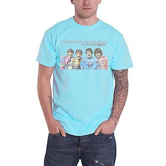 Los Beatles T camisa Sgt. Pepper Lonely Hearts LP aquí ahora para hombre oficial nuevo azul