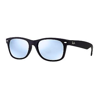 Ray - Ban New Wayfarer Large Black Rubber mirrored grey silver