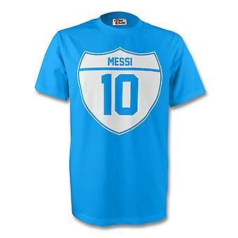 Lionel Messi Argentina Crest Tee (cielo azul) - niños