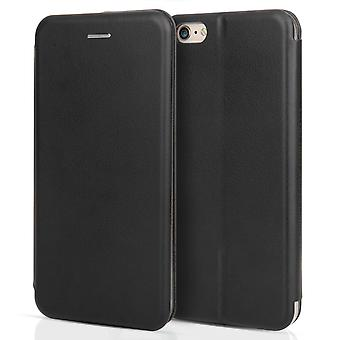 iPhone 6s Plus Leather Effect Stand ID Wallet - Black