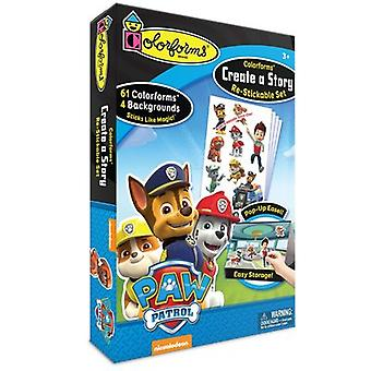 Colorforms(R) Create A Story Re-Stickable Sticker Set-Paw Patrol COLORCAS-422