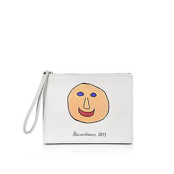 Christopher Kane women's 4768588680 White leather clutch